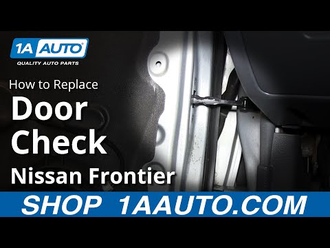 How To Install Replace Front Door Swing Stop Check 2001-04 Nissan Frontier