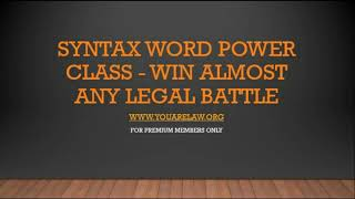 using-syntax-word-power-to-win-a-legal-matter