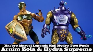Marvel Legends Hail Hydra Supreme Captain America and Arnim Zola Action Figure Two Pack Review