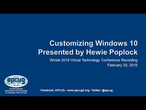 Customizing Windows 10