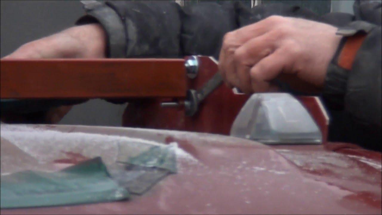 Ремонт трещины на лобовом стекле Газели. - YouTube