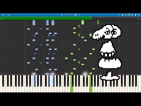 Dummy! - Undertale (Piano sheet music/MIDI) (Synthesia)