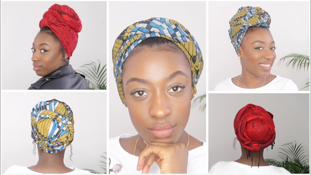 5 Easy Headwrap Turban Tutorial   5 façons d attacher son foulard ... a32ad9b3927