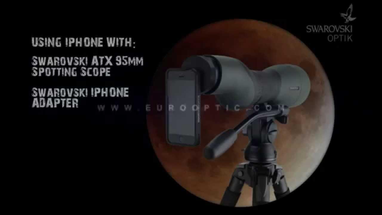 Blood Moon Through Swarovski Atx Spotting Scope Youtube