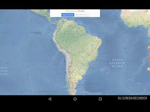 Static GK.. South America Physical Map
