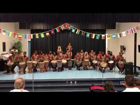 Tribal rhythm at South Olive Elementary school