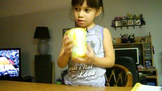 4 year old attempts pitch perfect cup song