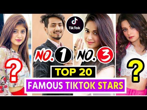 Top 20 Famous Tiktok Stars Of India Top Indian Tiktok Girls Boys Tik Tok Stars Name Youtube