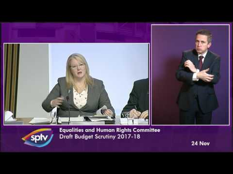 Equalities and Human Rights Committee - BSL -Scottish Parliament: 24th November 2016