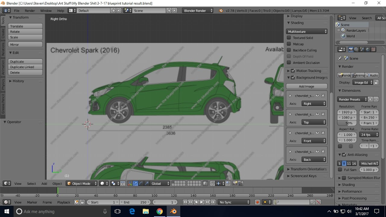 Blender car blueprint setup tutorial youtube blender car blueprint setup tutorial malvernweather Image collections