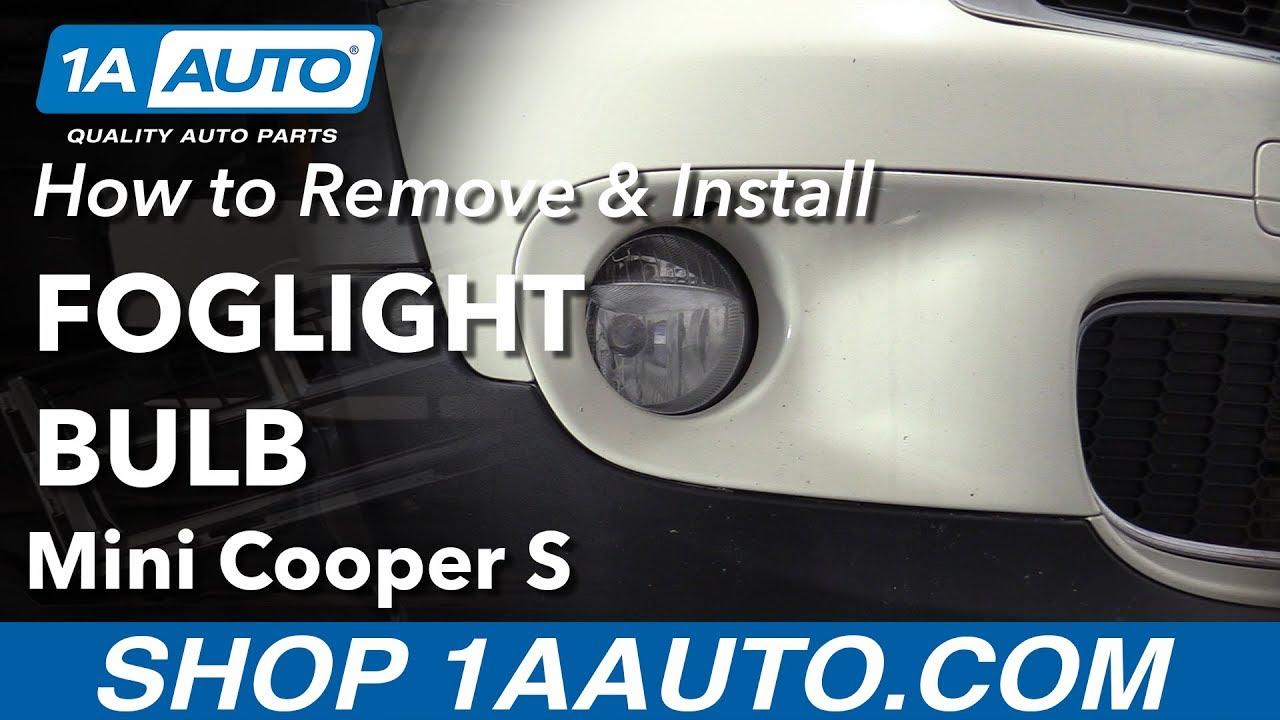 How To Replace Fog Light Bulbs 07 13 Mini Cooper S