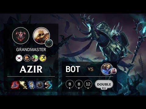 Azir Bot vs Ezreal - KR Grandmaster Patch 10.4