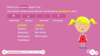 Okulistik - 4. Sınıf - Türkçe - Pekiştirmeli Sözcüklerin Yazımı