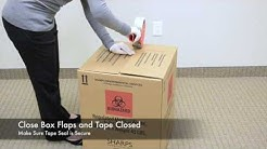 Sharps Compliance Medical Waste Transport Box Packaging