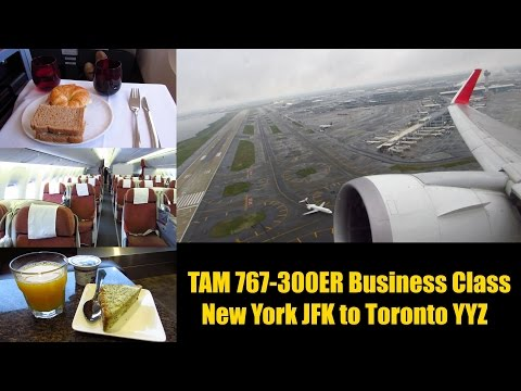 TRIP REPORT | TAM 767-300ER | New York JFK to Toronto YYZ | BUSINESS CLASS | Full Flight!