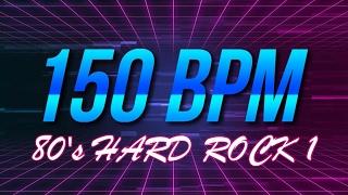 150 BPM - 80's Hard Rock - 4/4 Drum Track - Metronome - Drum Beat