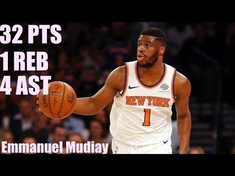 Emmanuel Mudiay New York Knicks game highlights vs Atlanta Hawks