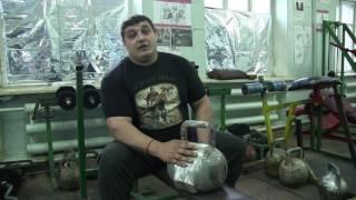 Понеслась дикулёвщина!)) Жонгляж гирей 80 кг!