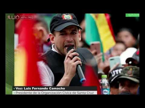 El escalofriante audio del opositor en Bolivia Fernando Camacho