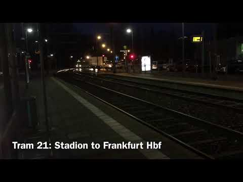 Local Trains (Trams) in Frankfurt | Stadt-City Channel