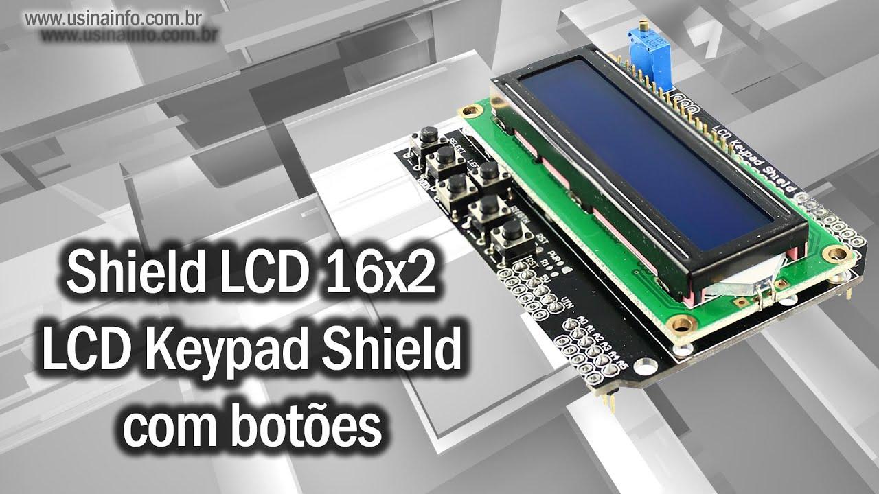 Shield lcd keypad com botões para