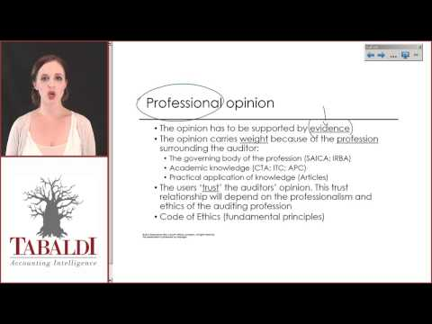AUE2601-Topic 3&4(A)- Background to the Audit Process
