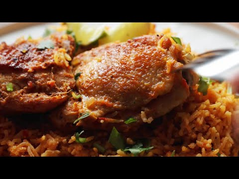 Mouthwatering Spicy Chicken Rice