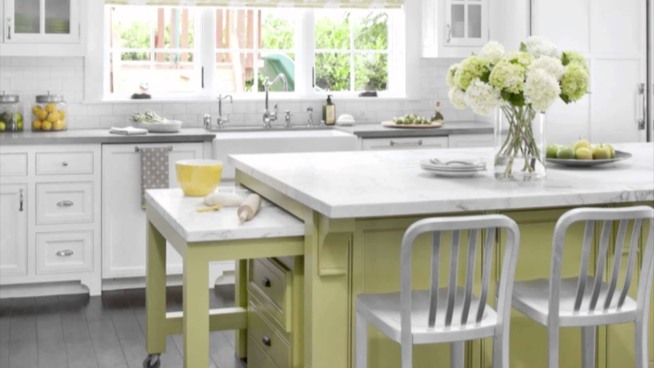 Kitchen Design Ideas - Green Color Scheme Ideas - YouTube