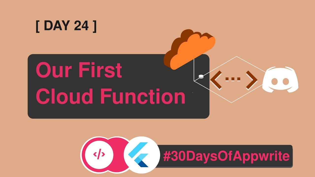 2️⃣4️⃣ #30DaysofAppwrite : First Cloud Function using Dart