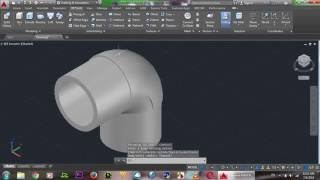 AutoCAD 3D Elbow Pipe Tutorial, 90 Corner Pipe Training Basic