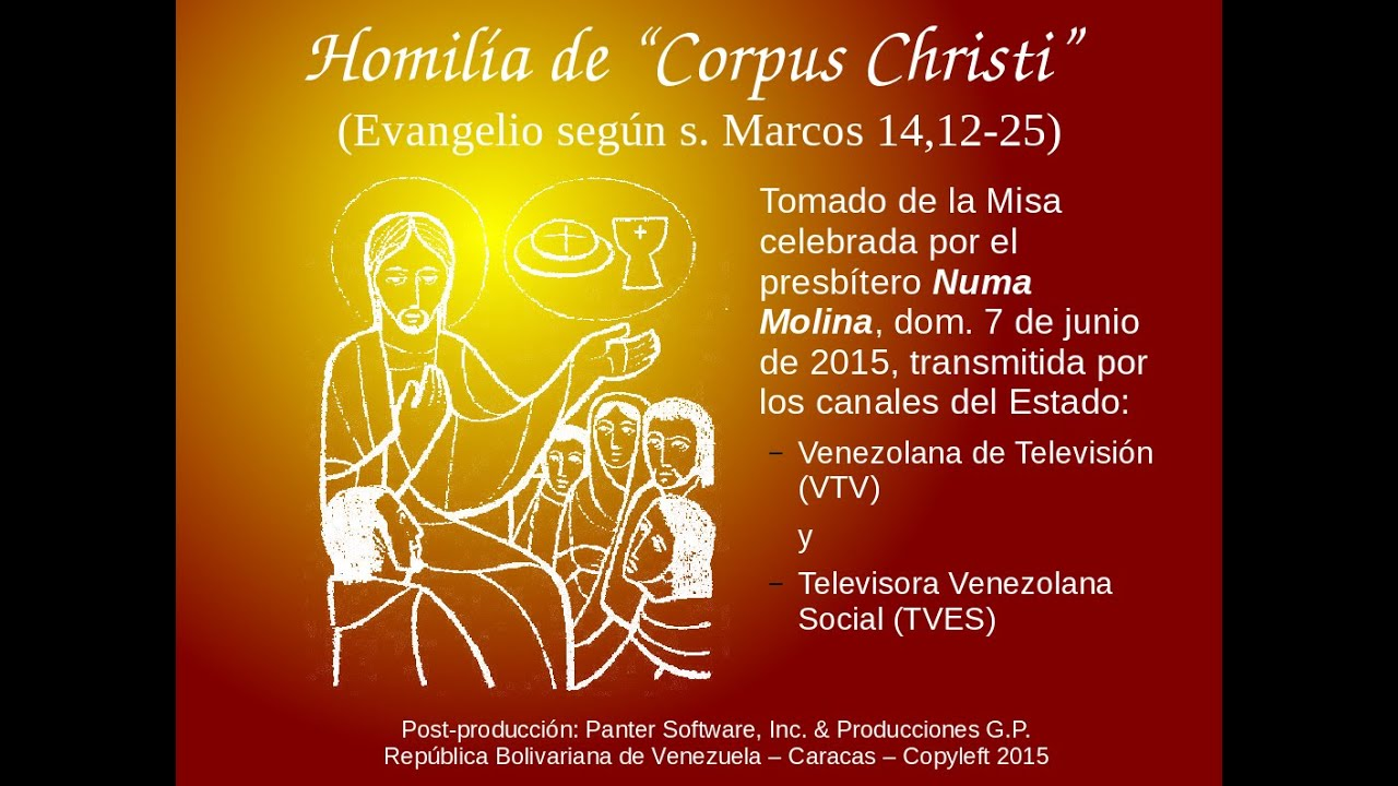 Evangelio según san Marcos 14, 12-25 - Pascua y Eucaristía - YouTube