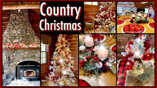 Country Christmas Decor | Mom's House | Red Black Buffalo Check