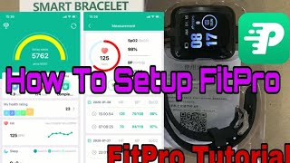 How to Setup Fitpro App | Fitpro Tutorial How To Connect Fitpro Smart Watch to phone screenshot 5