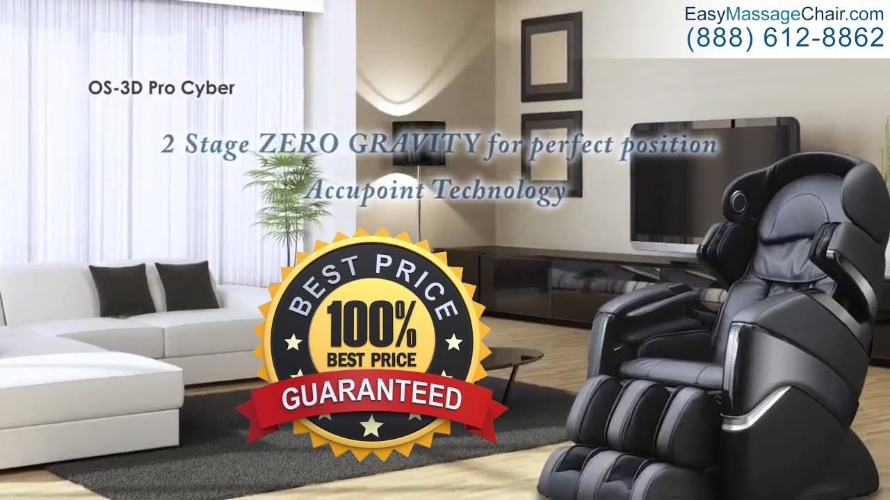 Osaki Os 3d Pro Cyber Massage Chair Sears Patio Cushions Youtube