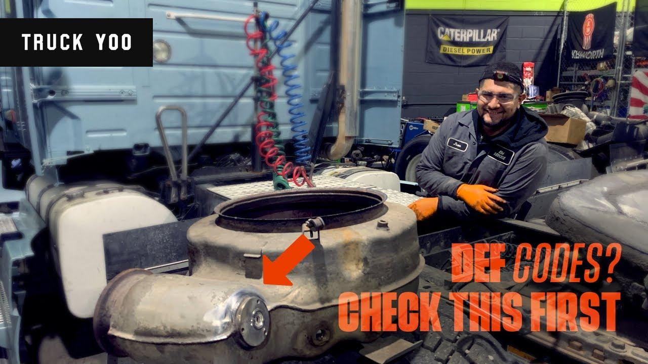 Diesel engine DEF Codes. Check this first