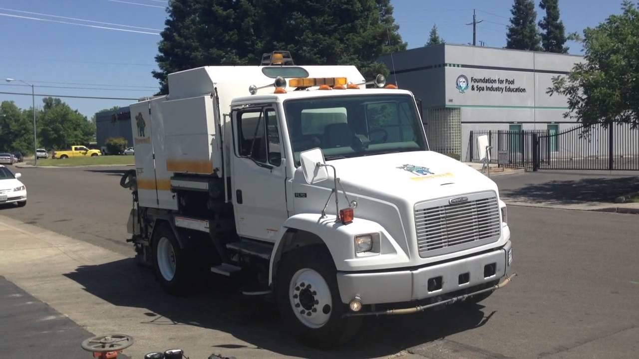Drive Now Truck Sales >> 2003 Freightliner FL70 Elgin Broom Bear Street Sweeper for sale - YouTube