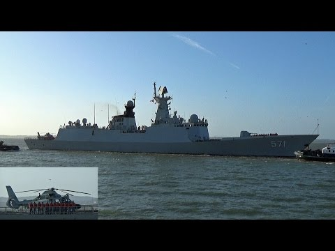 🇨🇳 Chinese Frigate Yuncheng, With Z-9 Helicopter Visits Portsmouth England.