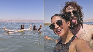 How does it feel to float in the DEAD SEA? 🌊