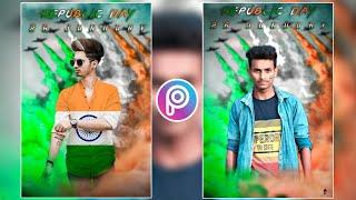 Picsart Happy Republic Day Photo Editing India 2020    26 January Republic Day Photo Editing 2020