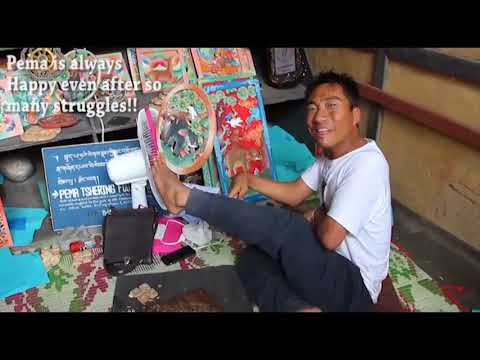 Foot Artist In Bhutan - Pema Tshering