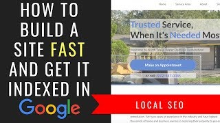 How To Build Your Affiliate SEO Site FAST and Get It Indexed In Google ASAP