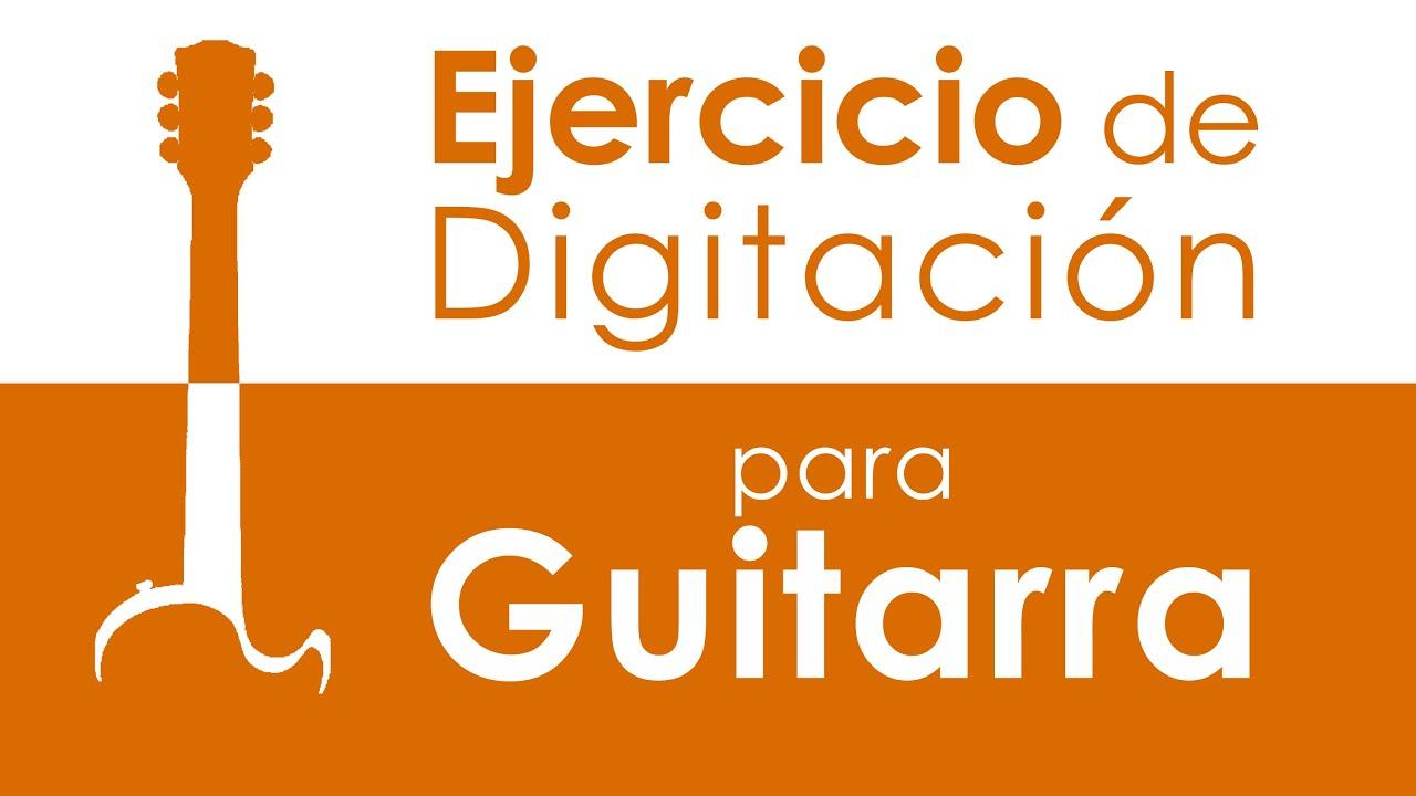 Ejercicio de digitación para Guitarra