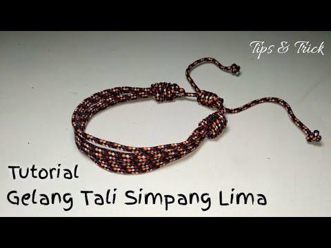 cara membuat gelang dari tali mudah tali prusik | how to make a bracelet from a prusik strap