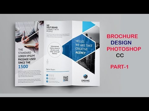 Tri-Fold Brochure Design In Photoshop||Brochure Design tutorial part-1 thumbnail