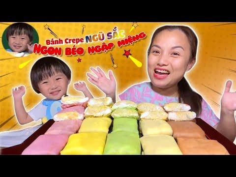 Triệu LiKe Cho Mâm Bánh Crepe Ngũ Sắc Nhân Sầu Riêng&Kem Tươi Tại Gia Ai Ăn Rồi Cũng Phải Mê #649
