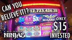 MEGABUCKS HUGE PROGRESSIVE WIN!!!! SLOT MACHINE - LAS VEGAS