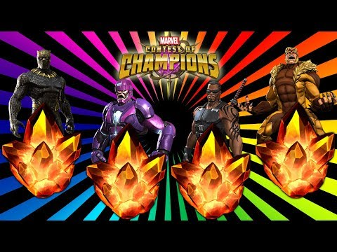 4x 4 Star Crystal Opening: Marvel Contest Of Champions