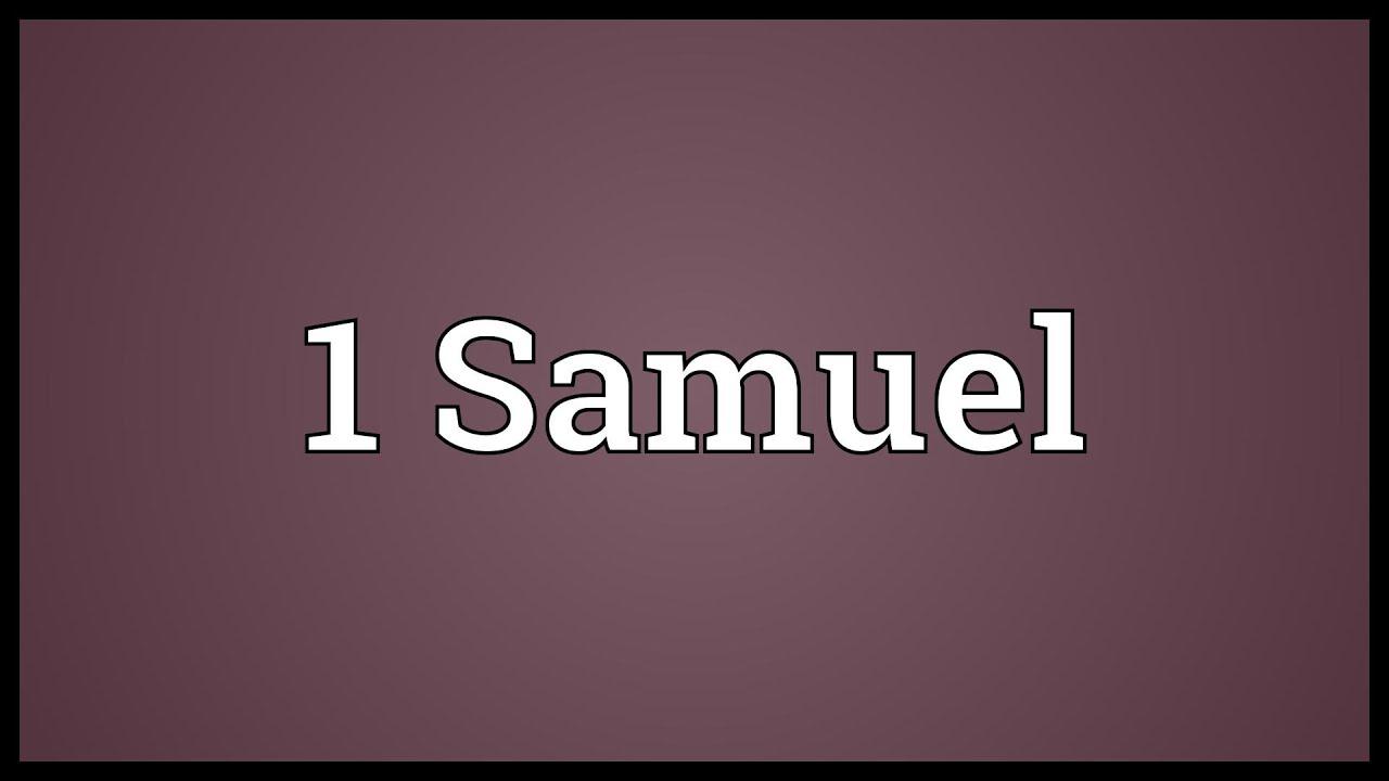 1 Samuel Meaning - YouTube
