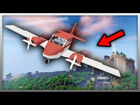 ✔️ Working PLANES in Minecraft! (with MILITARY BASE)