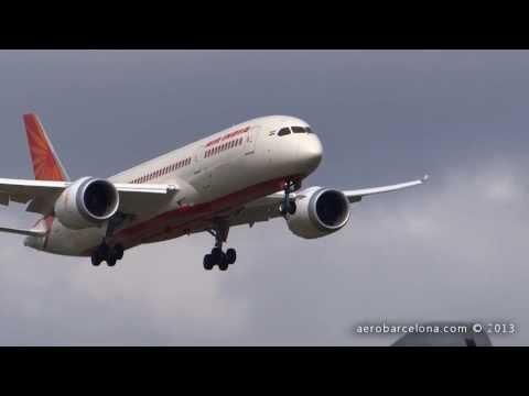 [FULL HD] Air India 787-8 [VT-ANJ] Dreamliner landing London Heathrow